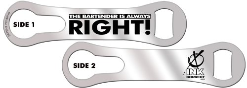 V-ROD™ Bone Bottle Opener and Pour Spout Remover: The Bartender is Always Right: Silver