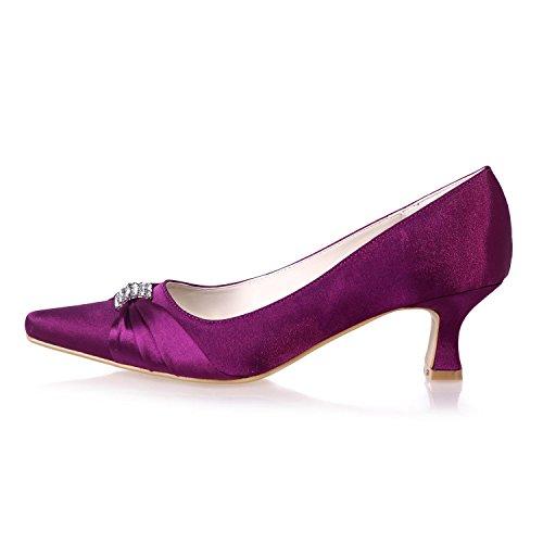 Chaussures yc Stretch Professionnels L amp; Femme Vêtements Pointue Party Silver Bureau 0723 Soirée De Satin Mariage 03 RdnwTqtTAx