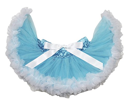 Light Blue White Baby Skirt Pettiskirt Tutu Birthday Dress Causal Wear 3-12m -