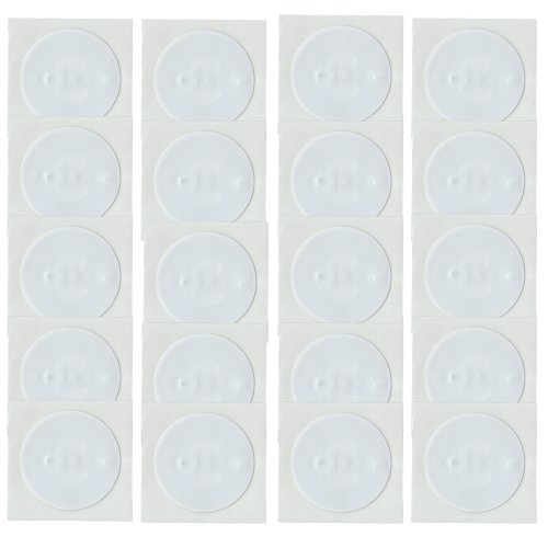 20 NFC Tags Sticker NTAG213 Circus rund 22mm 168Byte