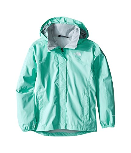The North Face Resolve Reflective Jacket Girls' Ice Green Small by The North Face