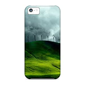 Defender Cases For Iphone 5c, Green Hill Pattern