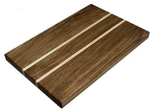 NaturalDesign Cutting Board 18 x 12 x 1.2 in Edge Grain Chopping Block Walnut & Maple Wood Hardwood Thick Durable & ()