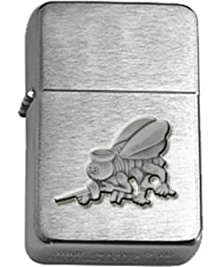 US Navy Seabees Cutout Brushed Chrome Lighter from Star
