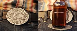 The Beer Buckle Holds A Bottle Or Can Hands Free