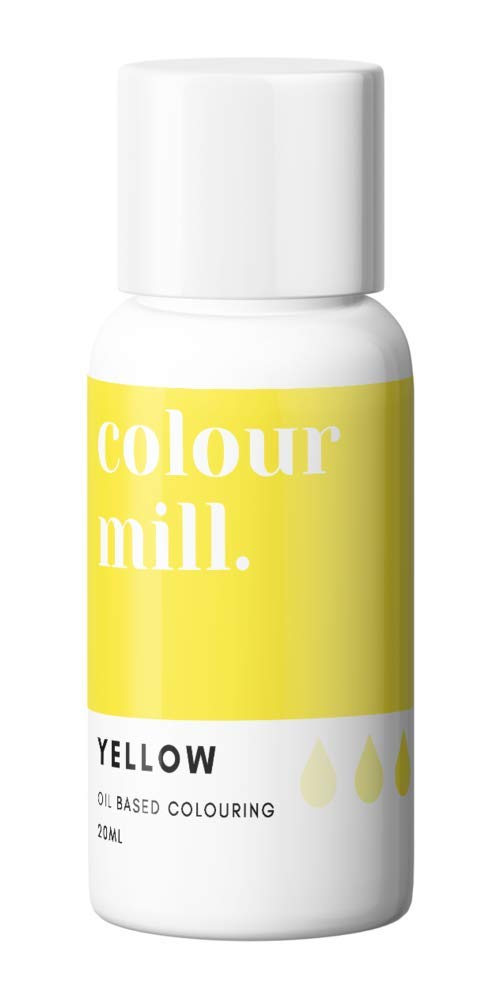 Colour Mill Oil-Based Food Coloring, 20 Milliliters Yellow