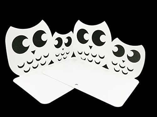 - Perfect Mother's Day Gift One Pair Creative Cute Nonskid Owl Animal Art Bookends for Kids Girls Birthday Gifts (White)