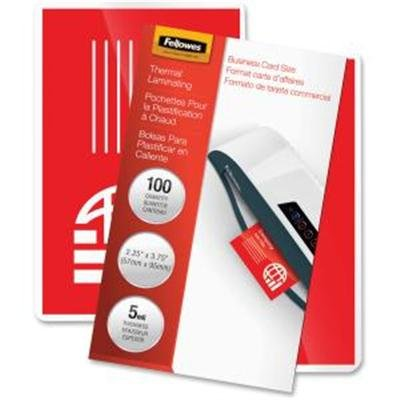 - Fellowes Pretrimmed Glossy Lam. Bus. Card Pouches-Laminating Pouches,Business Card,2-1/4