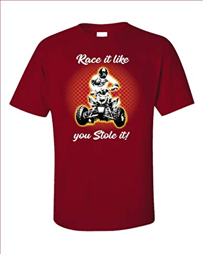 Americas Best Buys ATV Gift Race It Like You Stole It Quad Bike - Unisex T-Shirt Red ()