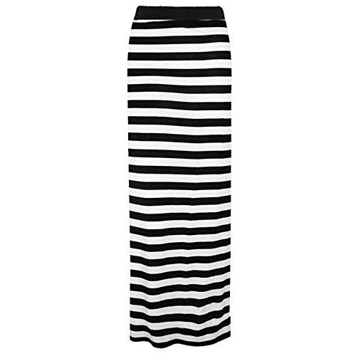 Comfiestyle - Jupe - Moulante - Femme Horizontal Stripe