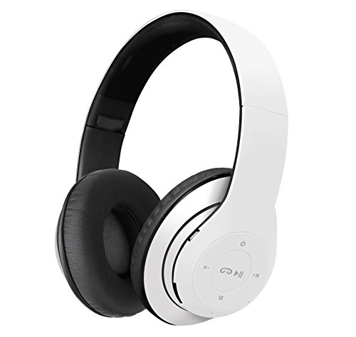 Klip Xtreme BlueBeats 2 Stereo Bluetooth Wireless Headphones with Microphone and SD Card slot-Headset controls-Foldable On-Ear Design-40mm Speaker Drivers-Great Sound & Deep Bass-3.5mm Connector-White (Xtreme Bluetooth)
