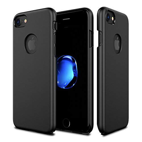 Price comparison product image iPhone 7 Matte Black Case, Patchworks Slim Fit Shell Thin 3H UV Coated Protective Scratch Resistant Hard Back Cover for iPhone 7