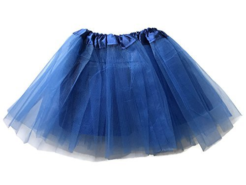 Rush Dance Girls' Classic Ballerina 3 Layers Tulle Tutu Skirt with Satin Lining (Kids (3-8 Years Old), Royal Blue)