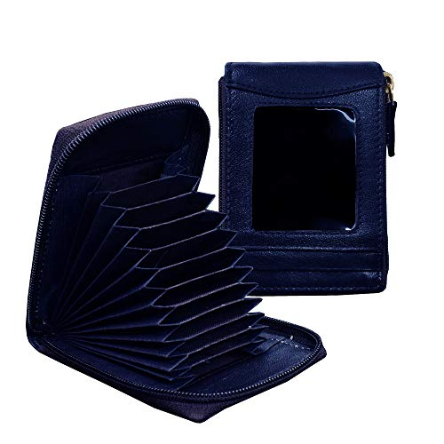 ABYS Blue Leather Unisex Card Holder  8516ABHM1