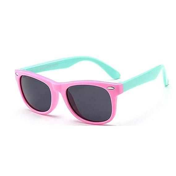 FOURCHEN Gafas de sol flexibles de goma polarizadas para niños para niñas de 3 a 10 años de edad