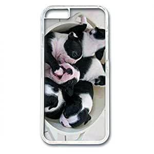 iCustomonline A Bowl of Boston Terrier Baby Designed Hard PC Transparent Case Cover Skin for iPhone 6 (4.7 inch)