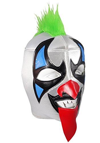 [PSYCHO CIRCUS Adult Lucha Libre Wrestling Mask (pro-fit) Costume Wear - Green] (Custom Wrestling Costumes)