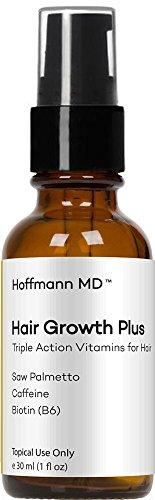 Men's Beard Growth Serum by Hoffmann MD - Grow More Facial Hair and a Thicker Beard Naturally (1 Ounce / 1 Month Supply)