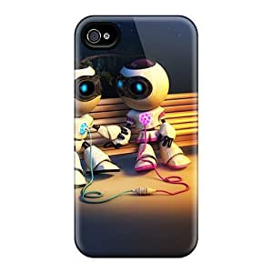 For BretPrice Iphone Protective Case, High Quality For Iphone 4/4s Robotic Love Skin Case Cover