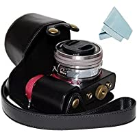 No.2 Warehouse Protective PU Leather Camera Case Bag For Sony Alpha A5000/A5100/NEX-3N 16-50mm lens (black)+ a Piece of Clean Cloth