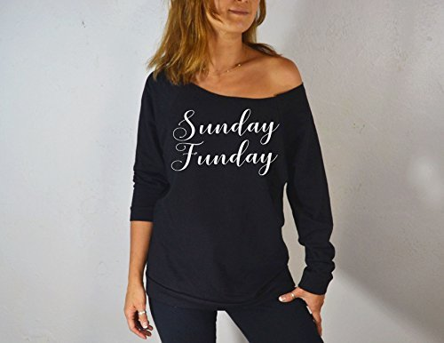 Sunday Funday. Women's Sweatshirt. Brunch Sweater. Gym Clothing. Eco-Sweatshirt. Slouchy Shirt. Off Shoulder Shirt. Sweatshirts. by GirlThreads