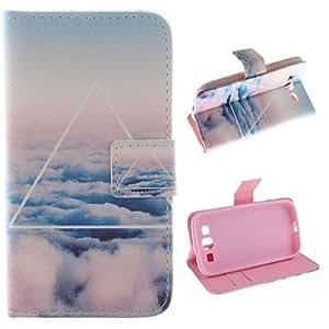 GDW sólo hermoso diseño de la nube de la PU cuero estuche de protección de cuerpo completo con soporte para Samsung Galaxy S3 i9300