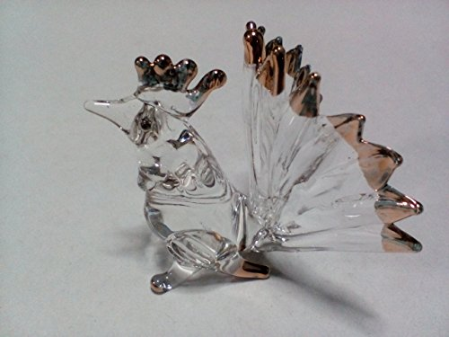 Miniature Hand Blown Art Glass Figurine - bantam ( Ayutthaya shop ) ()