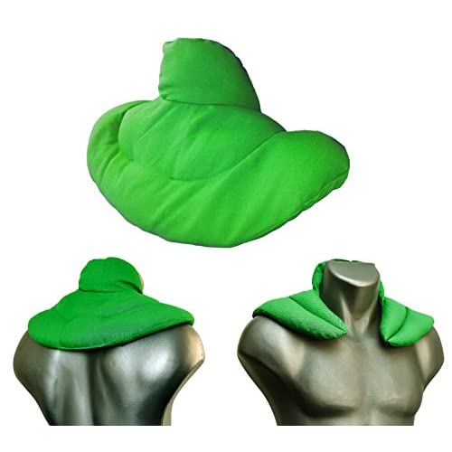 Coussin de nuque avec col montant l Vert clair l Coussin aux noyaux de cerises l Coussin épaules et cou