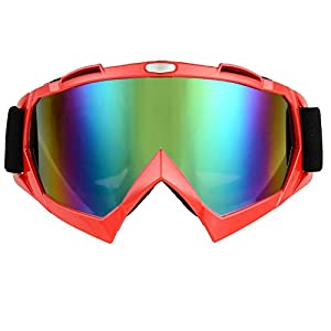 JOLIN Industry Welding Riding Protective Glasses Windproof Goggles Workplace Safety Dustproof Eyewear (Red frame,tinted lens)