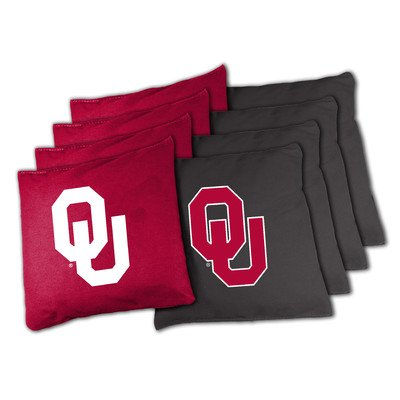 Oklahoma Bean Bag (NCAA Oklahoma Sooners 16oz, Duckcloth Cornhole Bean)
