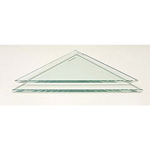"""Review 8"""" Triangle Clear Tempered Glass Shower Shelf-glass Only By Spancraft by Spancraft"""