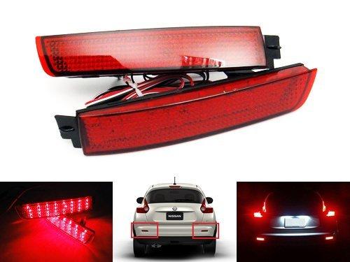 LEDIN 265605C000 OEM Replacement for Nissan Infiniti Red Lens LED Rear Bumper Reflector Tail Brake Stop Light ()
