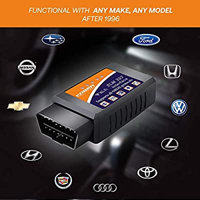 OBD2 Scanner & WiFi Car Code Reader – Clears Check Engine Lights Instantly – Diagnose 3000 Car Codes - Wireless Car Diagnostic Scanner – Auto Scanner for 1996+ Vehicles (iOS & Android Devices Only): Automotive
