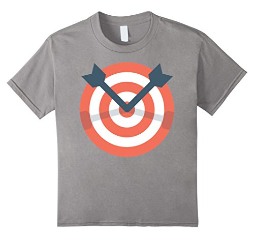 Archery Costume Ideas (Kids Archer Bow Shooting Tshirt - Funny Archery Target Gift Idea 12 Slate)