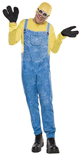 Minions Movie Womens Plus Size Minion Costumes (UHC Despicable Me Minion Bob Outfit Funny Theme Fancy Dress Party Costume, STD (44-48))