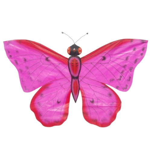Hot Pink Chinese Silk Butterfly Kite - Hand-Crated Kites For Wall Dcor