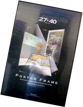 Movie Poster Frame Black Vinyl Edges