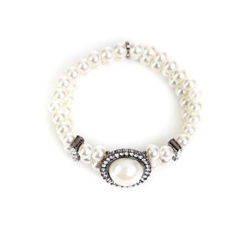 Almbock Trachten Armband mit Perlen und Steinen - schöner Schmuck zum Dirndl aus hochwertigen Perlen für Damen