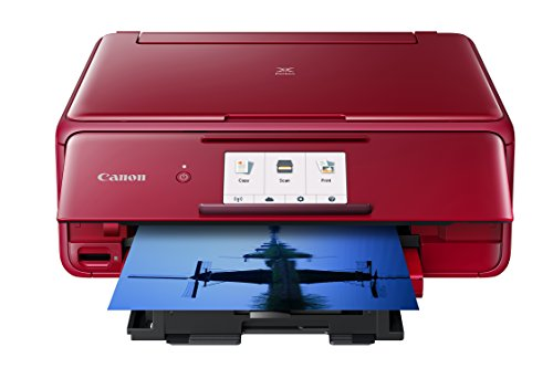 Canon Office Products 2230C042 TS8120 Wireless All-in-One Printer with Scanner and Copier: Mobile and Tablet Printing, with Airprint(TM) and Google Cloud Print Compatible, Red