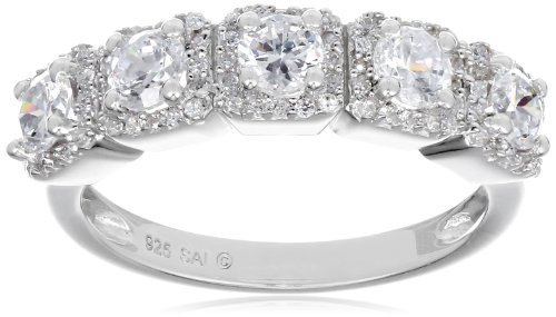 UPC 032964890021, Sterling Silver Cubic Zirconia Anniversary Ring, Size 6
