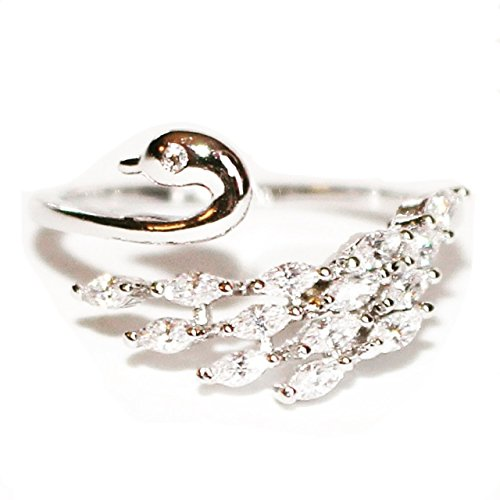 Adorable Animals Crystal Swan Ring