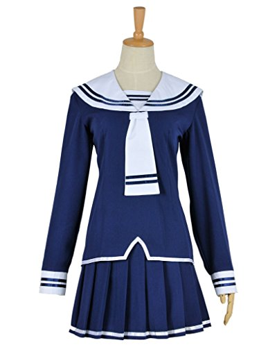 CosplayNow Fruits Basket Cosplay Costume Skirt Uniform Dress Blue S