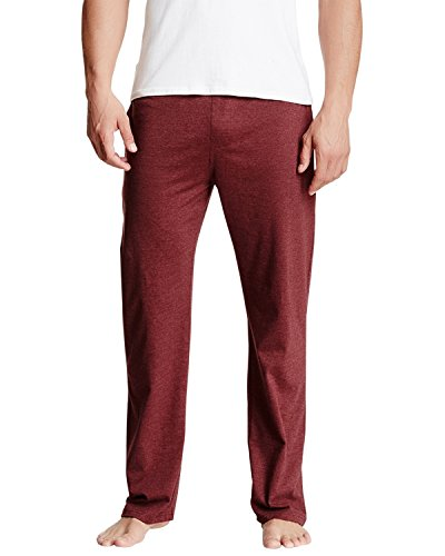 New Balance Men's Bright contrast tipping Cotton Knit PJ Lounge Pant - Brick - (New Balance Comfort Pant)