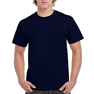 Gildan Men's Ultra Cotton Tee Extended Sizes, Navy, XX-Large