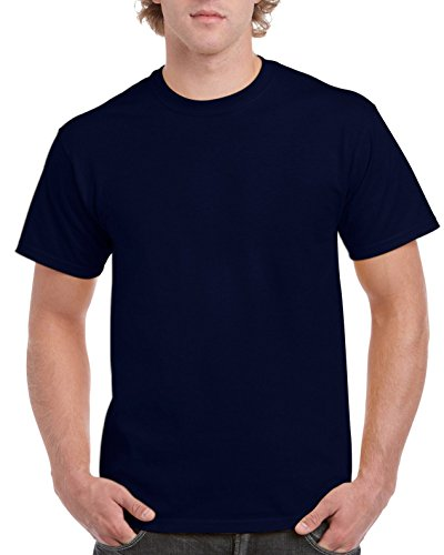 Gildan Men's Ultra Cotton Tee Extended Sizes, Navy, XX-Large