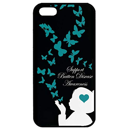 Batten Full (iPhone 5S iPhone SE Case,iPhone 5 Full Protective Case,Support Batten Disease Awareness iPhone 5S iPhone SE Soft Case Batten Disease Awareness Ultra Clear Slim Case for iPhone SE/5/5S)