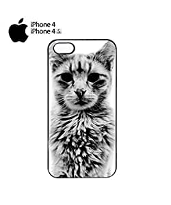 Cat Kitten Angry Grumpy Meow Mobile Cell Phone Case Cover iPhone 4&4s White