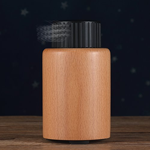 Micro Mist Nebulizer (Skey Essential Oil nebulizer Aroma Wood Oil Diffuser Silent Safety and Eco-friendly Ultrasonic Humidifier Aromatherapy Waterless Car Mini Diffuser for Home Office Yoga Spa bedroom)