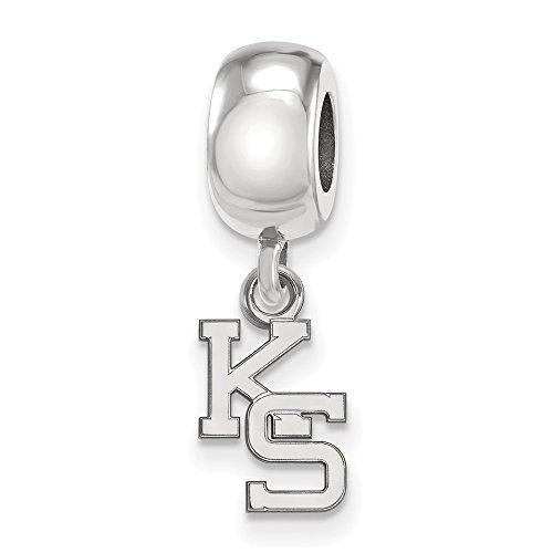 Sterling Silver LogoArt Official Licensed Collegiate Kansas State University (KSU) XS Dangle Bead Charm by LogoArt