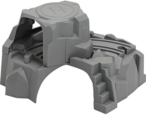 yiianger Plastic Grey Double Tunnel Wooden Train Track Accessories Tunnel Track Train Slot Wood Railway Toys bloques de construcc